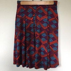 LuLaRoe Madison Skirt, Bold Pattern, Size S